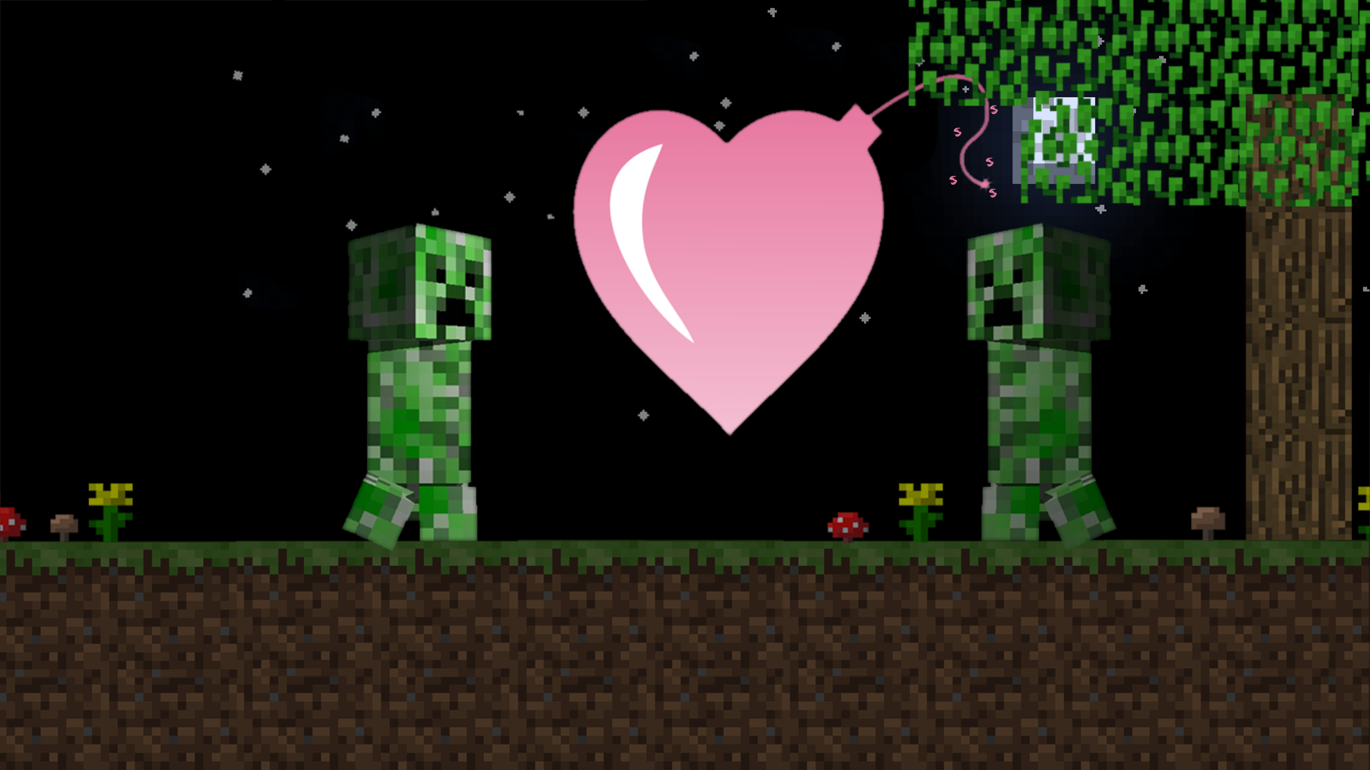Minecraft heart wallpaper