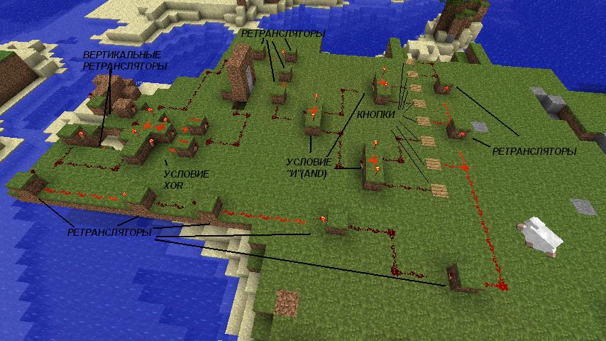 Замок minecraft схемы