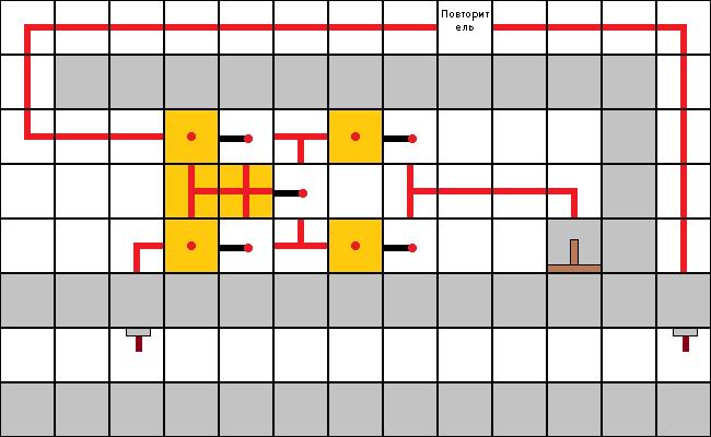 Схема двери с использованием