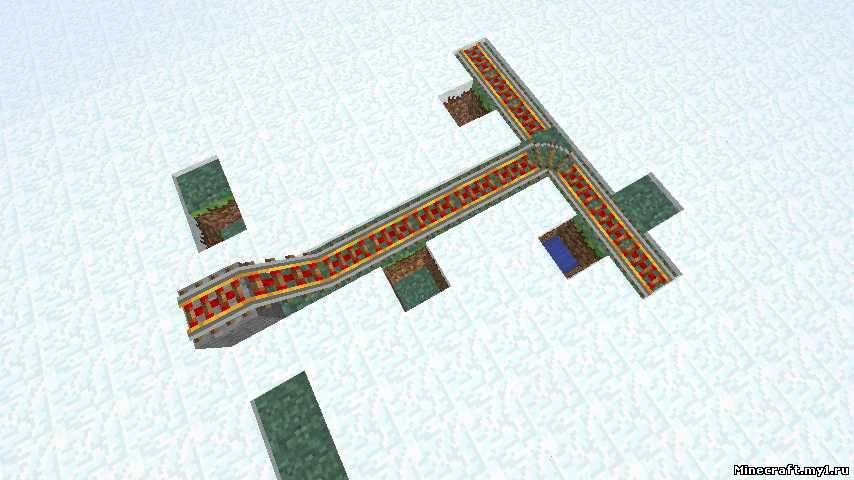 Minecraft как сделать много рельсов